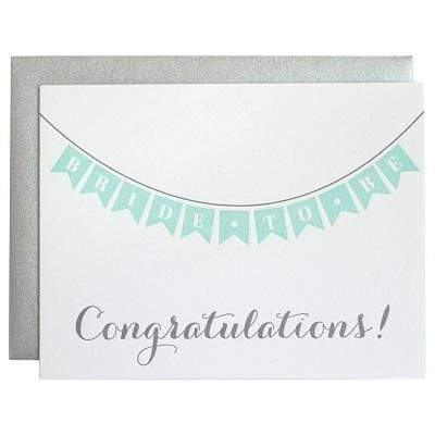 Chez Gagne Gift One Size / N/A / 1067 Congratulations Bride to Be Letterpress Card