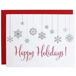 Chez Gagne Gift One Size / N/A / 1069 Happy Holidays Snowflake Letterpress Card