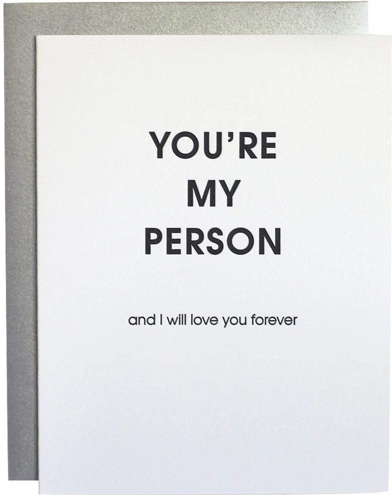 Chez Gagne Gift One Size / N/A / 1122 You're My Person Letterpress Card