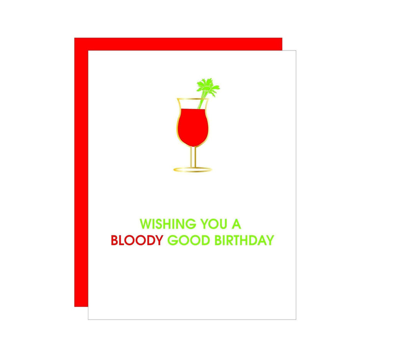 "Chez Gagne Gift One Size / N/A / 1379 ""Bloody Good"" Bloody Mary Birthday Daiquiri Card"