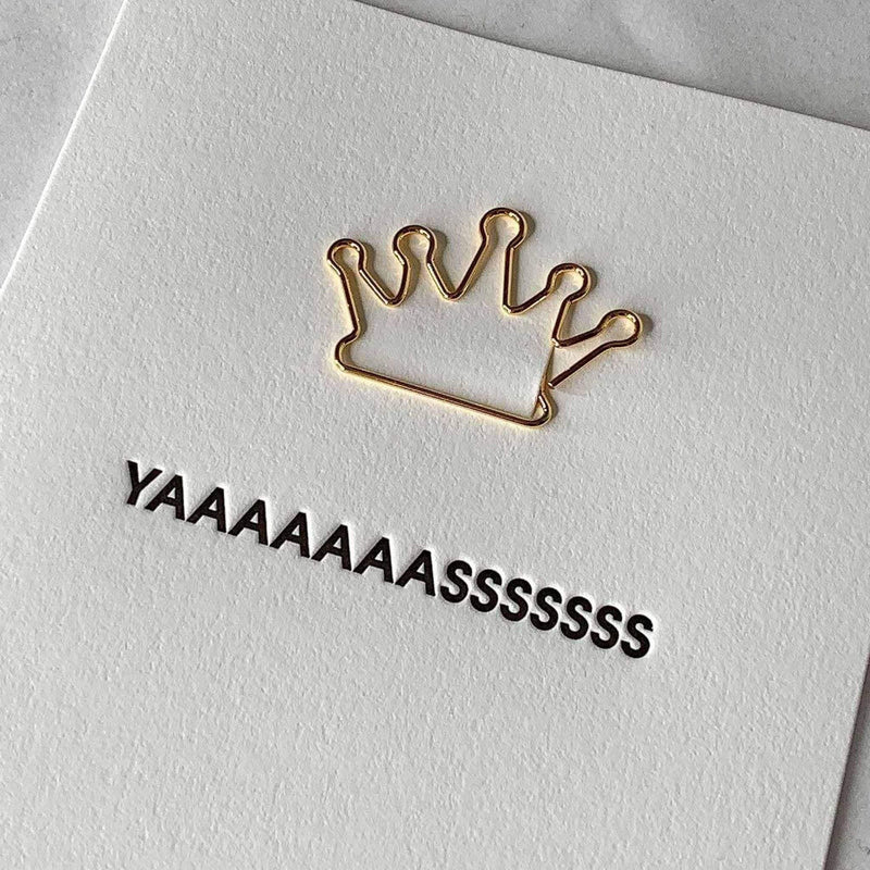 Chez Gagne Gift One Size / N/A / 1392 Yaaaasss Letter Press Card