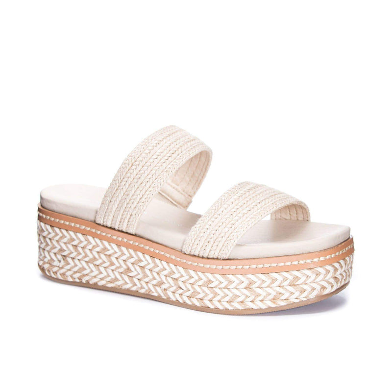 chinese laundry Shoes Zion Jute Platform Sandal Cream