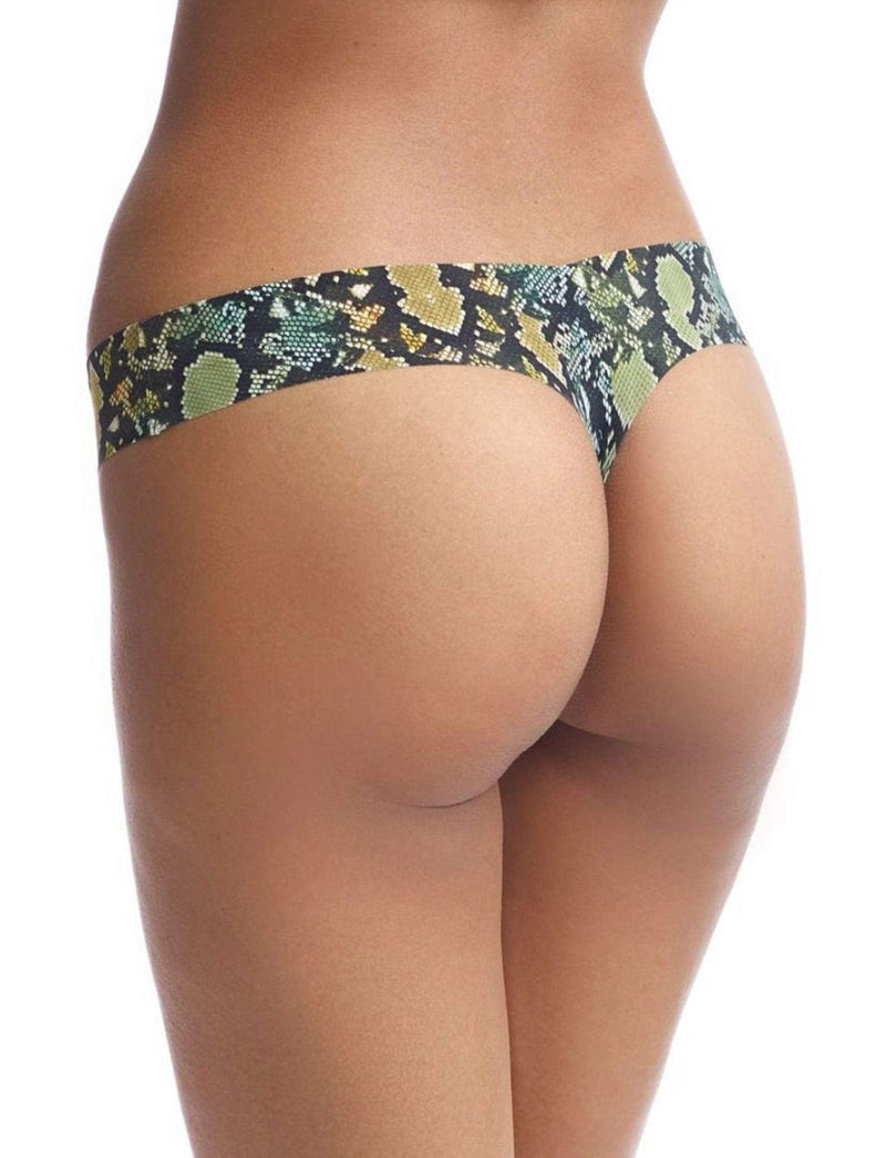 Commando Bottoms Medium/Large / Camo Snake / CT02 Classic Print Thong Camo Snake