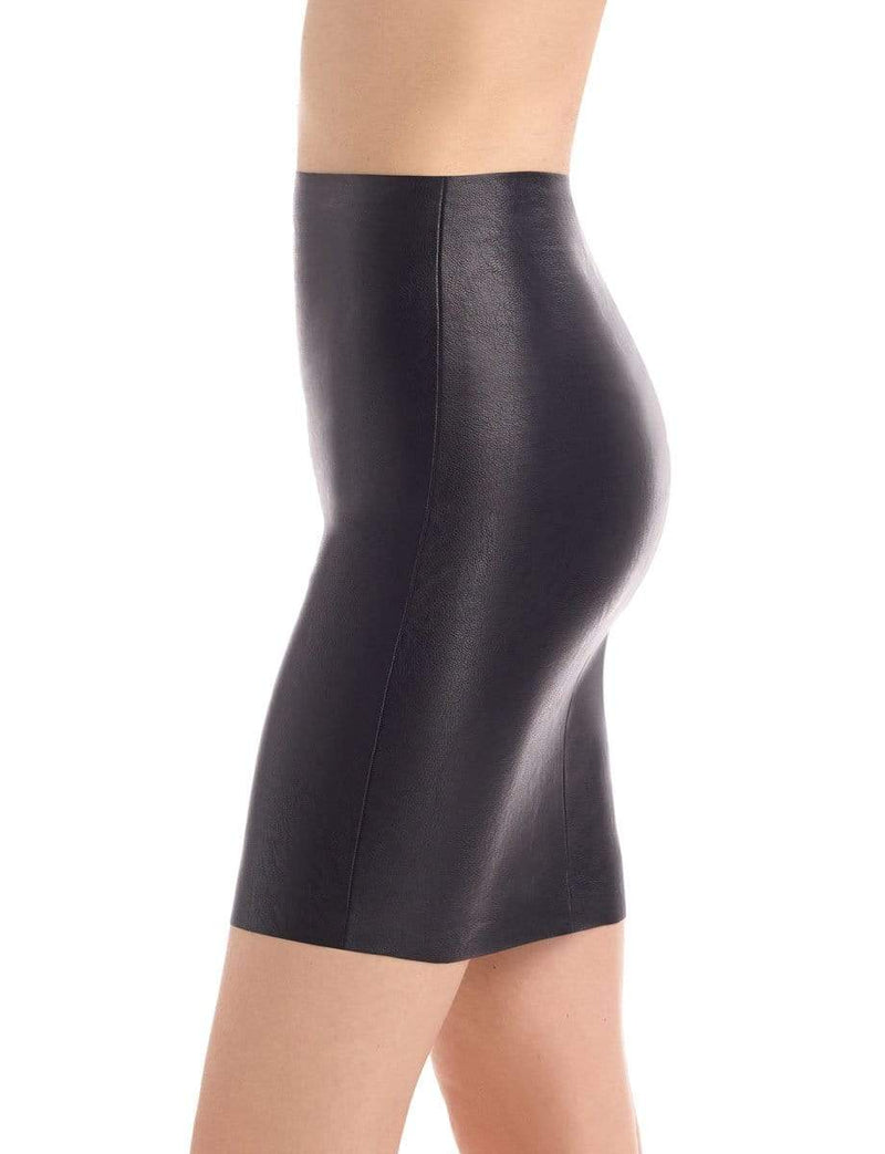 Commando Skirt Perfect Circle Leather Mini Skirt Black