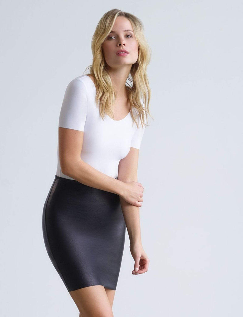 Perfect Faux Leather Mini Skirt Black