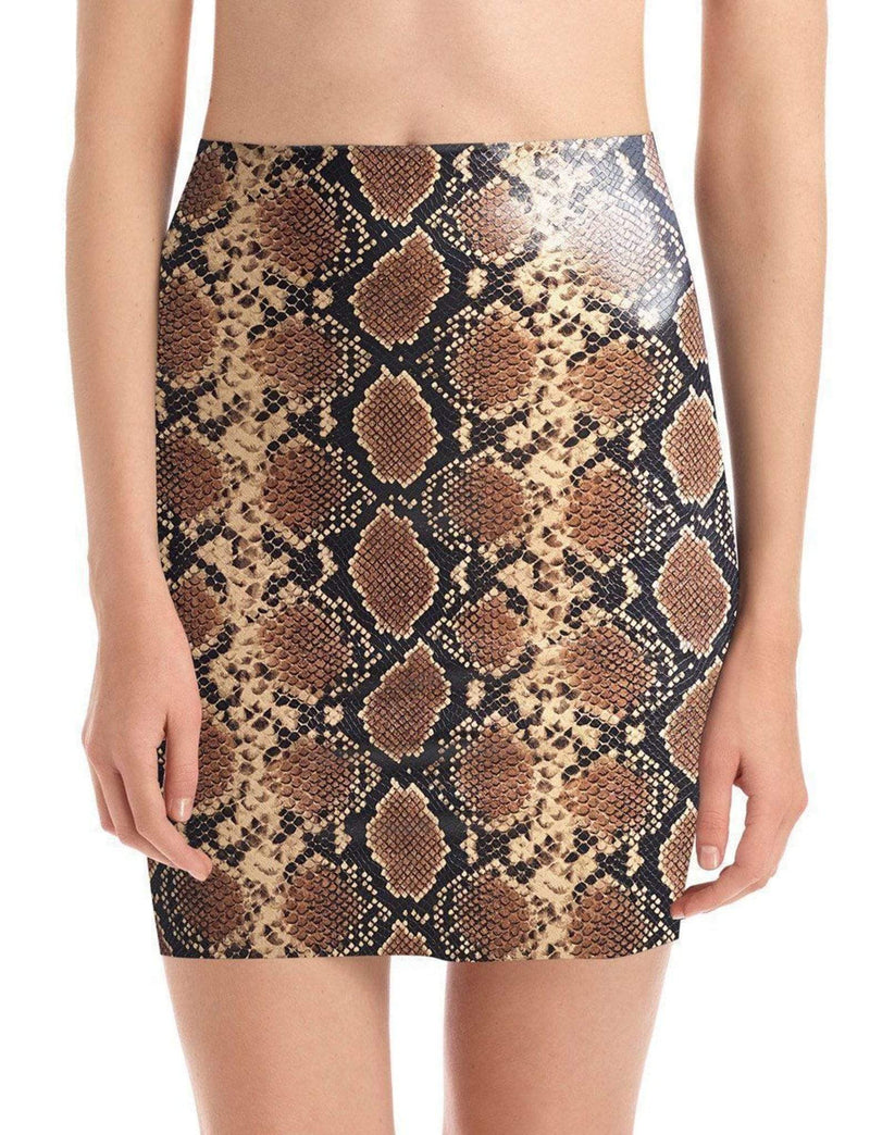 Commando Skirt X Small / Snake / SK15 Faux Leather Mini Skirt Snake