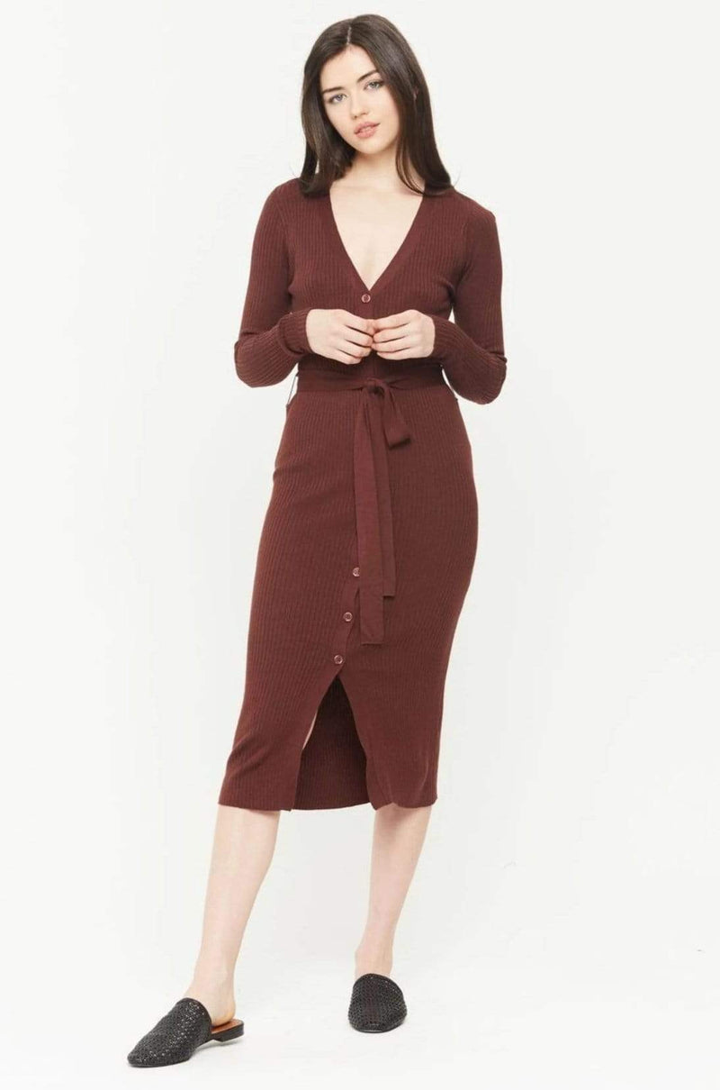 Corinth Dress Burgundy
