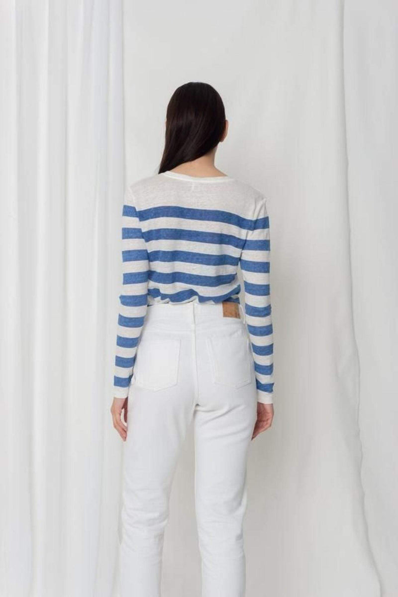 Comune Tee Casuals Nora Long Sleeve Top Blue Stripe