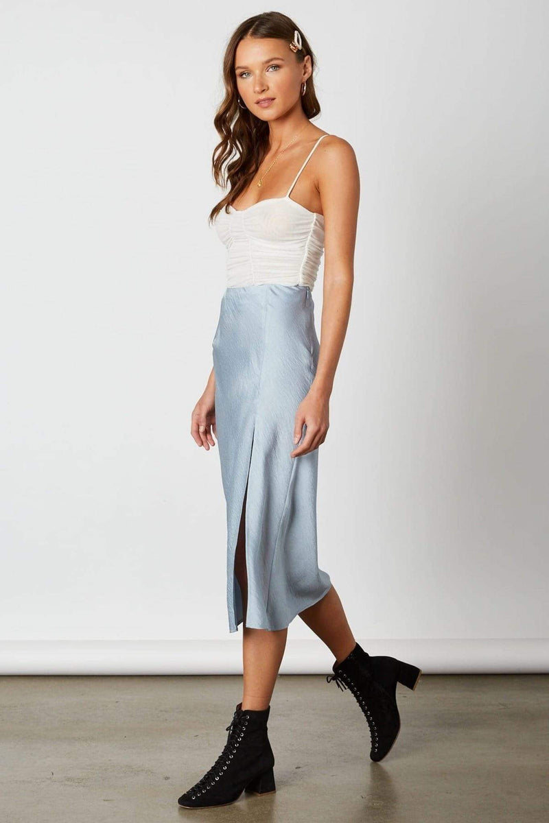 Cotton Candy Skirt Cora Midi Skirt Chambray