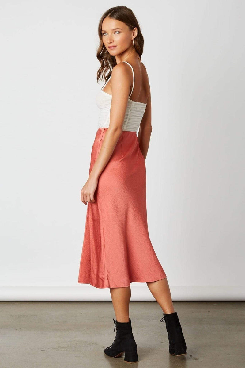 Cotton Candy Skirt Cora Midi Skirt Rose