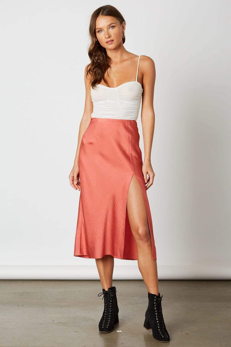 Cotton Candy Skirt X Small / Rose / CP-10139 Cora Midi Skirt Rose
