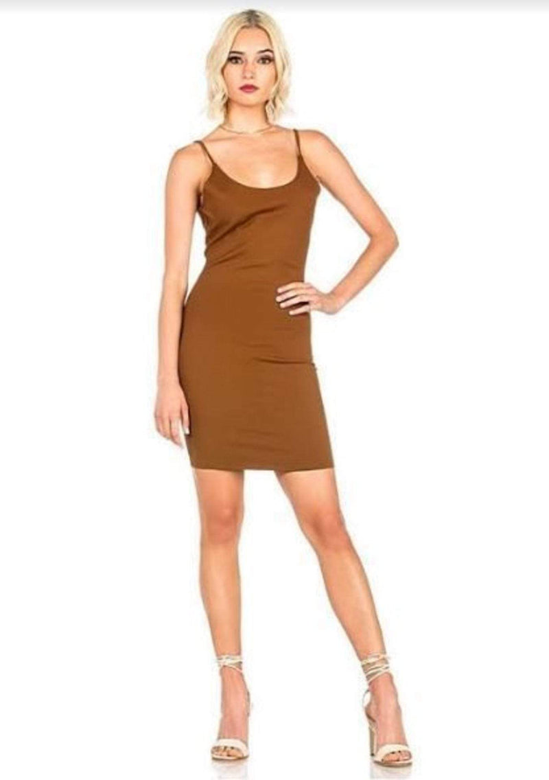 Braylin Body Con Dress Latte