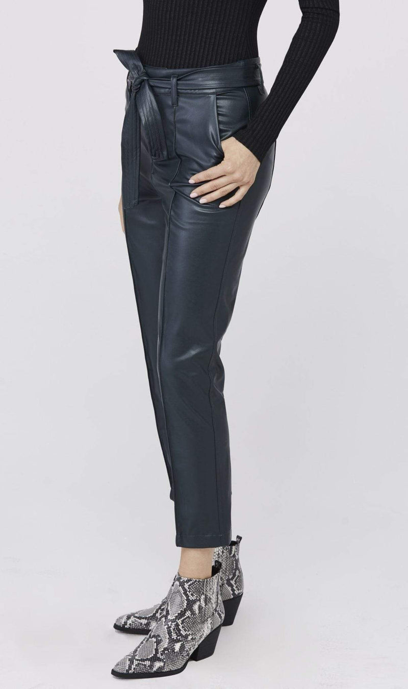 David Lerner New York Pants Alessa Belted High Waisted Pant Black