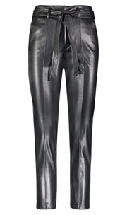 David Lerner New York Pants Small / Black / DAP0327 Alessa Belted High Waisted Pant Black