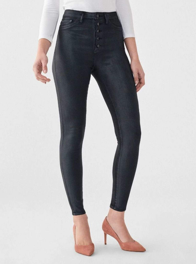 DL1961 Premium Denim Denim Chrissy Ankle Ultra High Rise Skinny Jeans Graphite