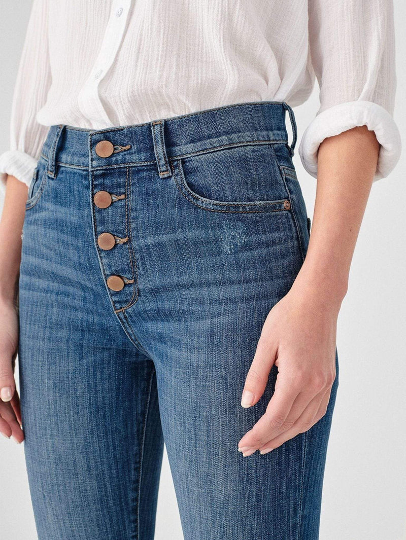 Mara Ankle High Rise Straight Jeans Bardot