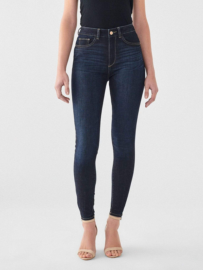 DL1961 Premium Denim Denim Size 24 / Willoughby / 12404 Farrow Ankle High Rise Skinny Blue