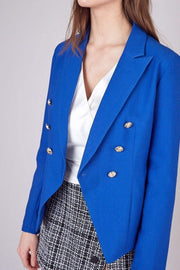 Do and Be Jacket Daria Gold Button Jacket Royal Blue
