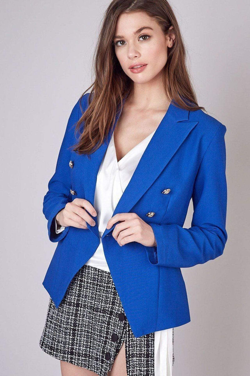 Do and Be Jacket X Small / Royal Blue / Y17002-RE5RY Daria Gold Button Jacket Royal Blue