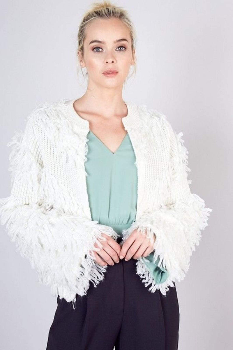 Lena Tassel Sweater Off White