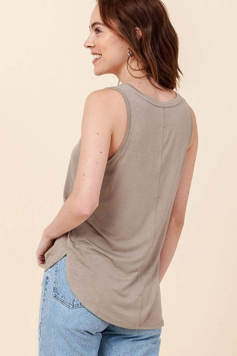 Double Zero Tee Casuals Miga Knit Tank Top Smoke Green