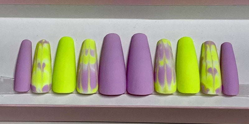 EastLux Co Private Collection One Size / Multi Summer Coffin Acrylic Nails