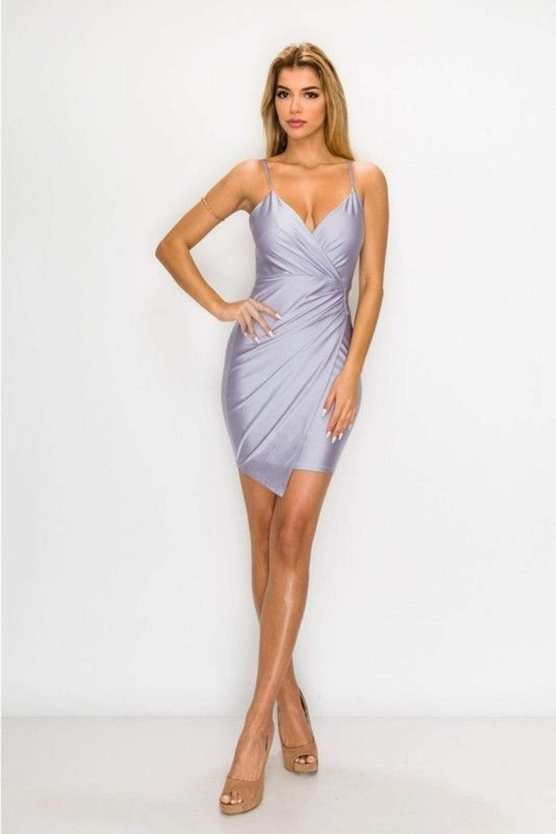 Endless Blu Dress Dalia Satin Dress Lavender