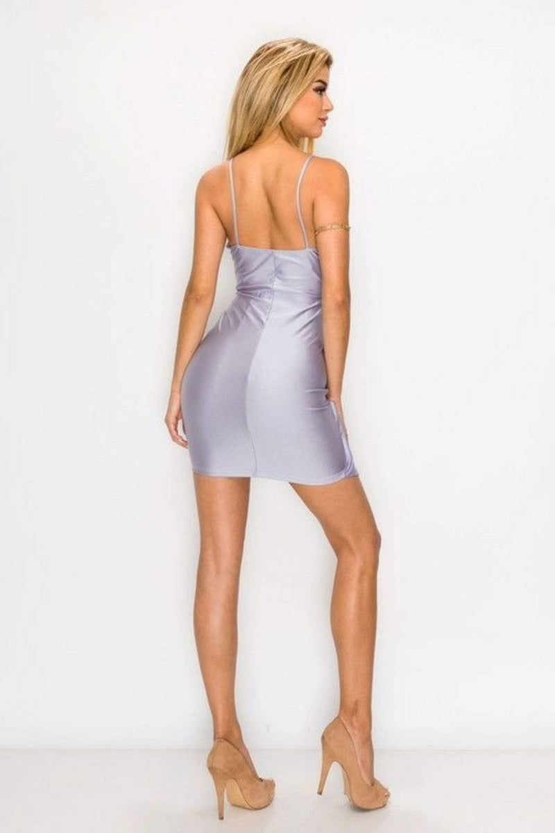 Endless Blu Dress Small / Lavender / ED1464-3 Dalia Satin Dress Lavender