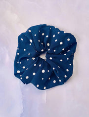 Evelyn K Accessories One Size / Black / LCHB-569BLACK Polka Dot Scrunchie Black