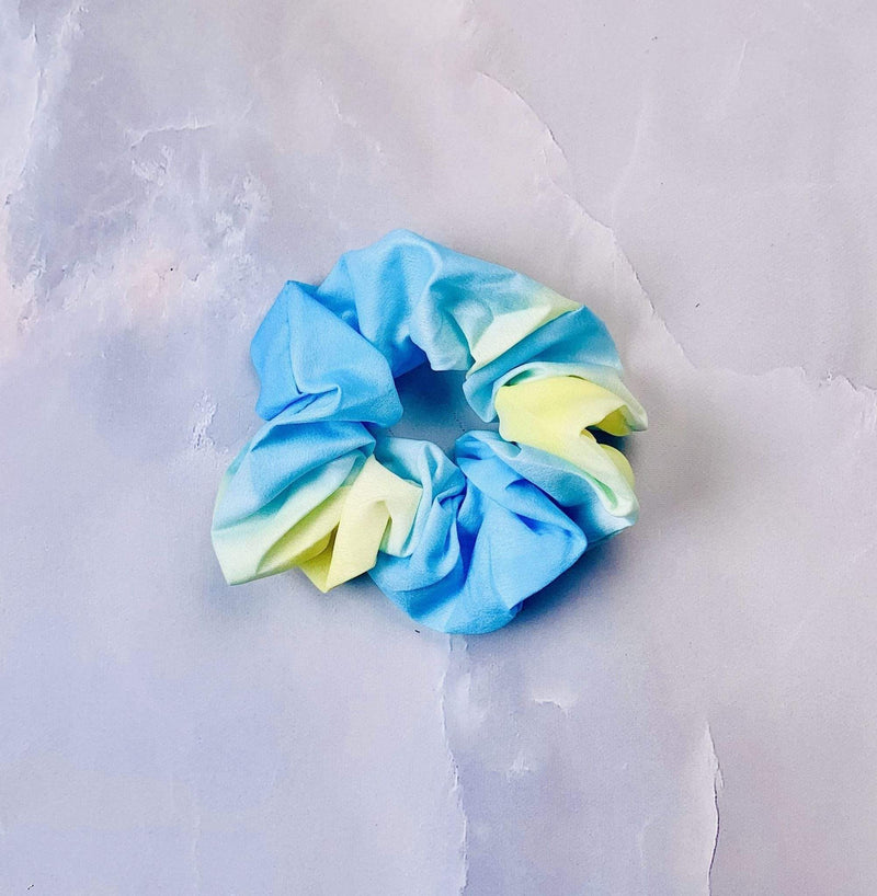 Evelyn K Accessories One Size / Blue / LCHB-561BLUE Tie Dye Scrunchie Blue