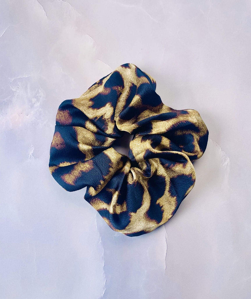 Evelyn K Accessories One Size / Brown / SBHB-2838BROWN Leopard Print Scrunchie Brown