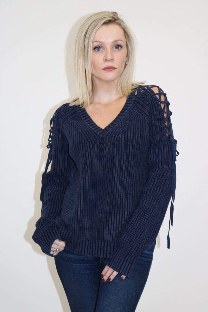 fate Sweater Lacey Sweater Indigo