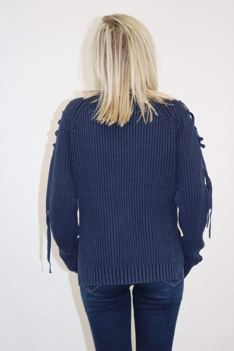 fate Sweater Large / Indigo / AZ-049 Lacey Sweater Indigo