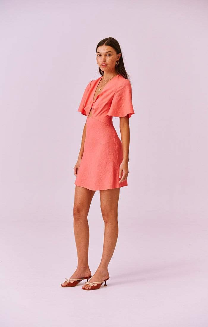 Finders Keepers Dress Sally Mini Dress Coral