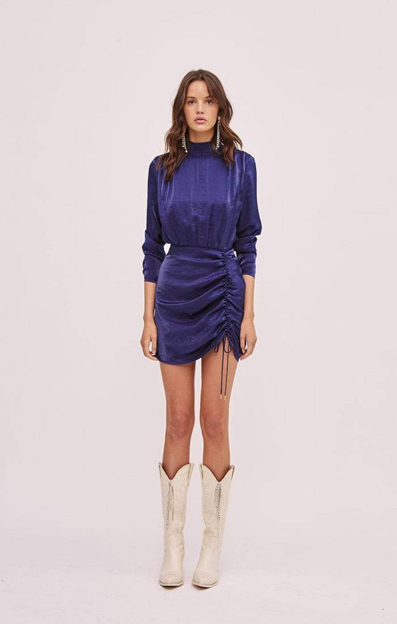 Finders Keepers Dress Yasmine Long Sleeve Dress Navy