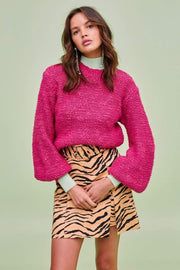 Finders Keepers Sweater Oui Knit Sweater Fuchsia