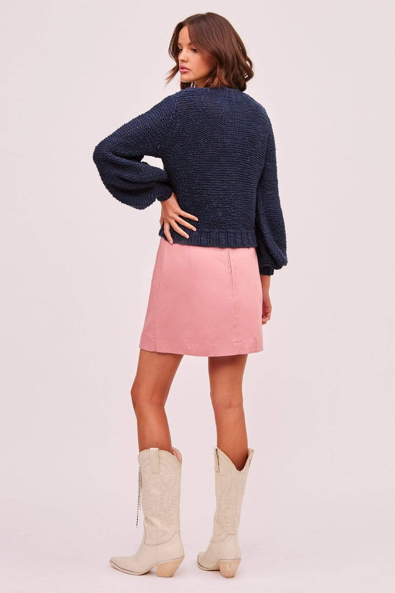 Finders Keepers Sweater Oui Knit Sweater Navy