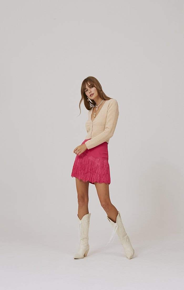 Finders Keepers Sweater Primavera Cardigan Natural