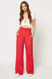 Flynn Skye Bottoms Cherry Dots Ruffle Pants