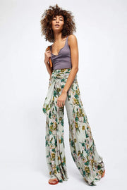 Free People Bottoms Aloha Wide Leg Pants Mint