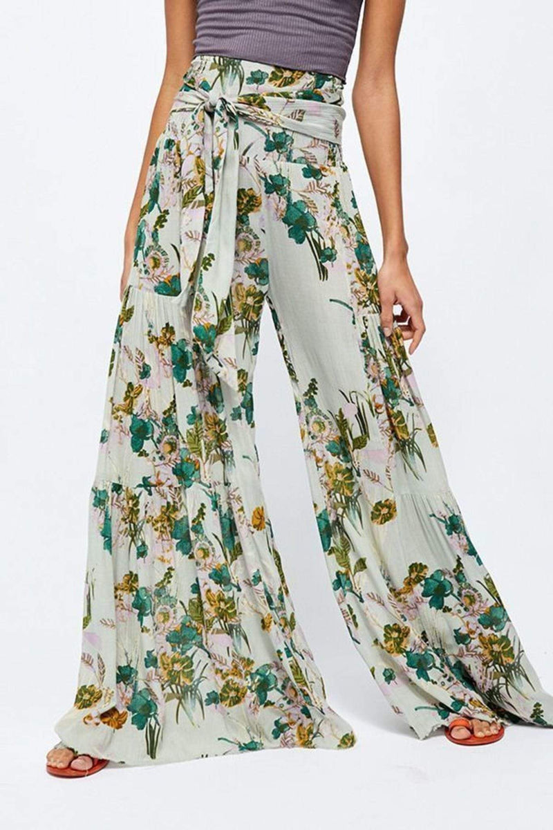 Free People Bottoms X Small / Mint / F17Y06206 Aloha Wide Leg Pants Mint