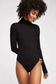 Free People Bra All You Want Bodysuit Black