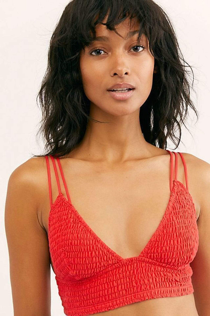 Free People Bra Emmy Bralette Red