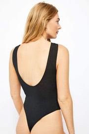 Free People Bra First Call Bodysuit Black