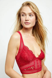 Free People Bra Large / Crimson / OB1031334 Sitting Pretty Brami Crimson