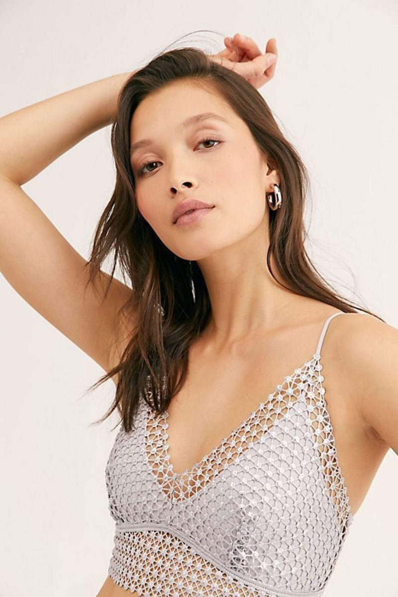 Free People Bra Large / Silver / OB1070884 Constellation Bralette Silver