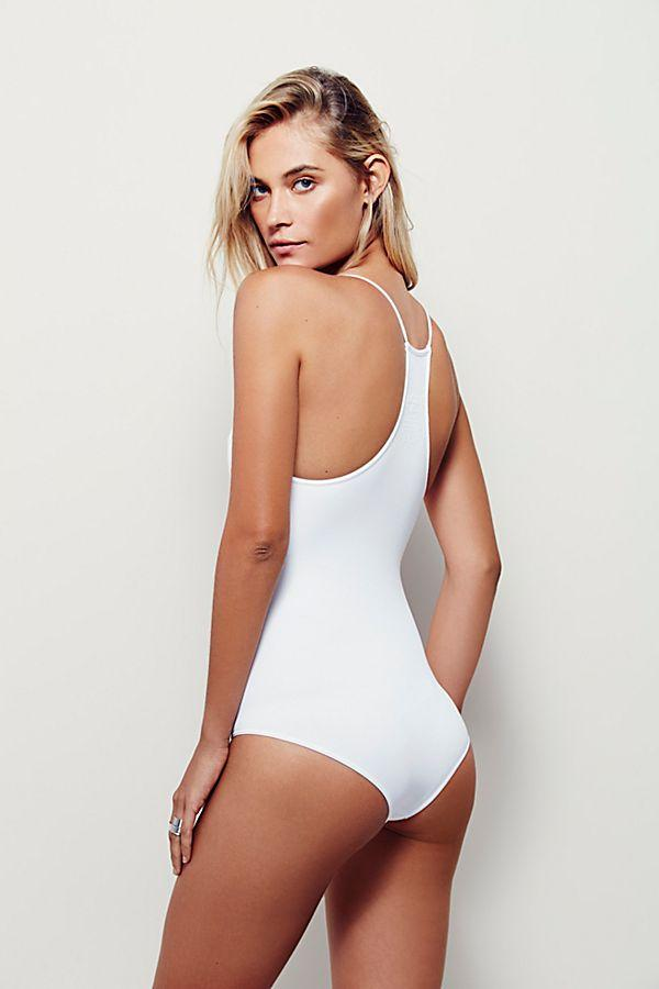 Free People Bra Move Along Bodysuit White