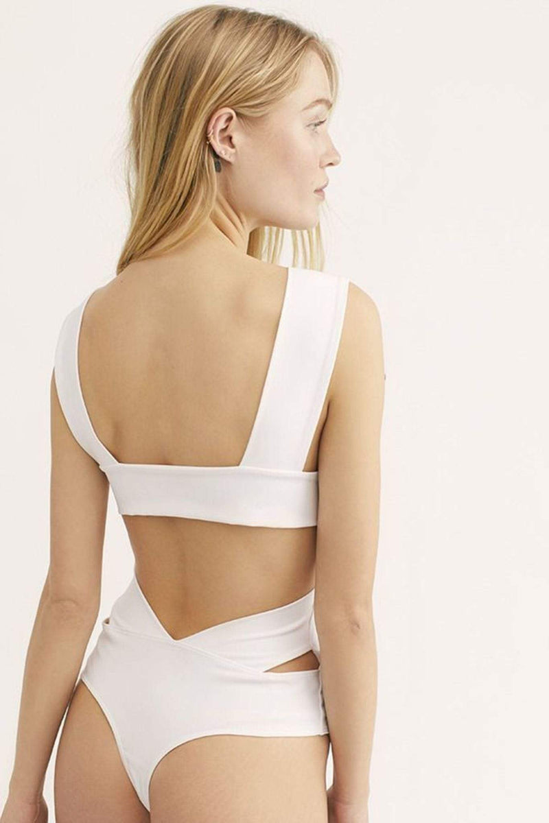 Free People Bra Oh She's Strappy Bodysuit White