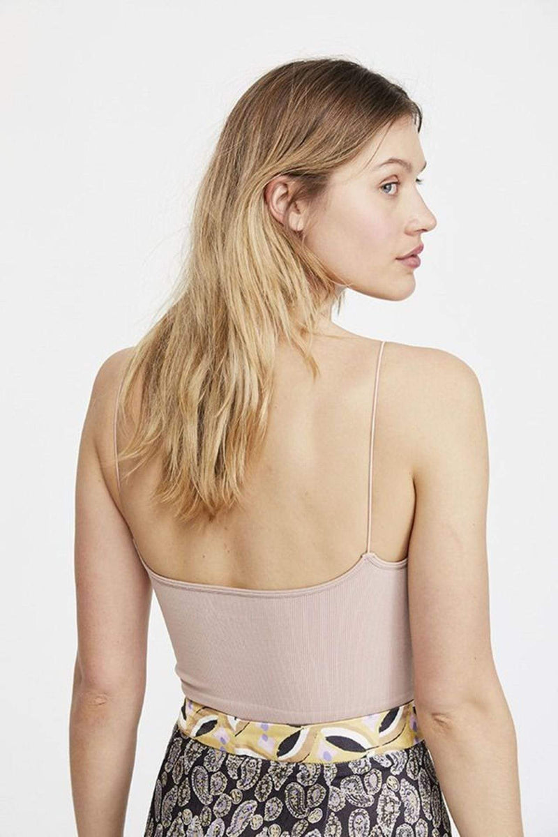 Ribbed V-Neck Brami Pink