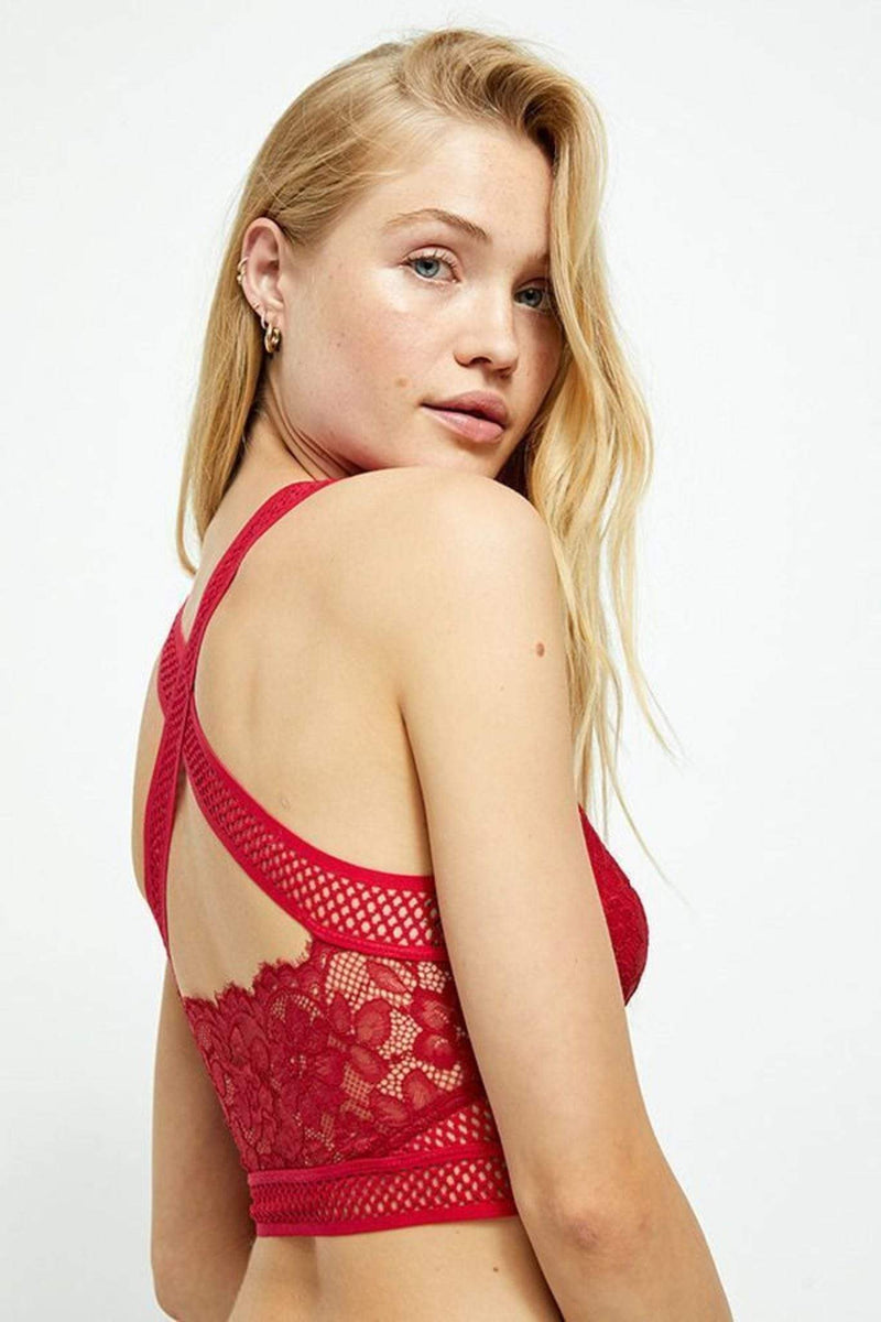 Free People Bra Sitting Pretty Brami Crimson